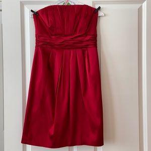 White House Black Market Red Satin Dress, 4